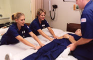 Nursing students in the OCCC nursing program.