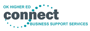 Logo: OK Higher Ed Connect. Business Support Services.