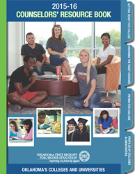 Cover art for the Counselors' Resource Book: Oklahoma's Colleges and Universities.
