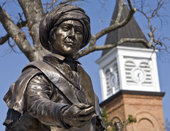 Photo of Sequoyah statue on NSU's campus.