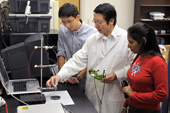 Photo of UCO's Dr. Wei Chen and students.