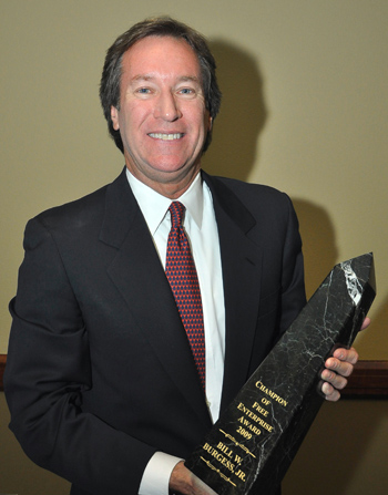 Photo of Regent Bill Burgess with award.