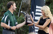 Photo of Carrie Underwood and Pres. Betz.
