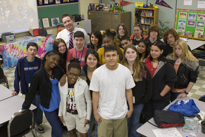 Photo of USAO's Alumnus Grimm and his class.