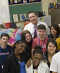 Photo of USAO alumnus Brian Grimm and his class.